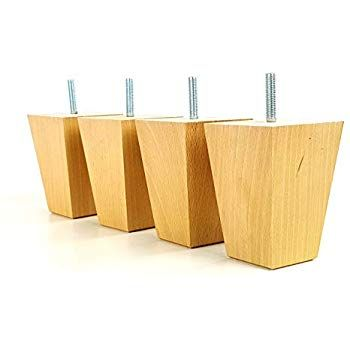 Knightsbrandnu2u 4x Solid Wooden Feet