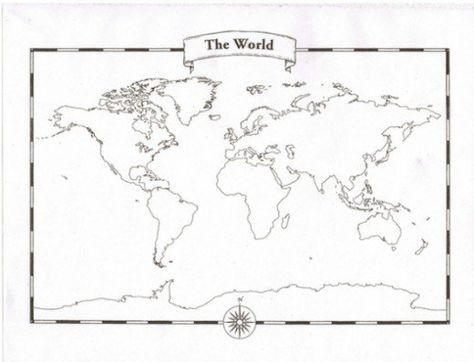 images art Pinterest Template, Tangle doodle and Doodles - new world map blank with countries border