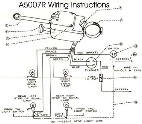 universal signal switch wiring diagram wiring diagram universal turn signal wiring diagram brake light  universal turn signal wiring diagram