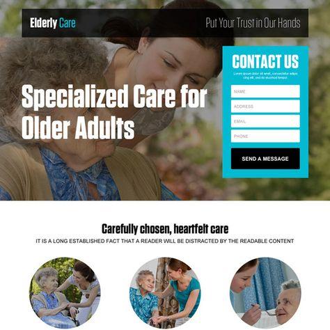 best-older-adults-care-res-lead-gen-lp-001 | Elderly Care Landing Page Design preview.