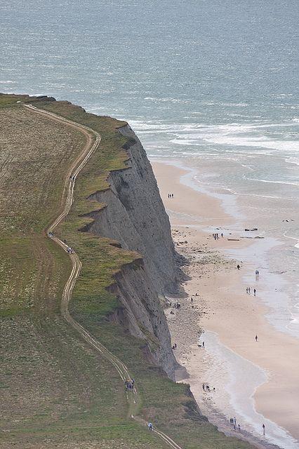 The beautiful cliffs of the Côte d'Opale - Cap Blanc-Nez, Nord-Pas-de-Calais, France