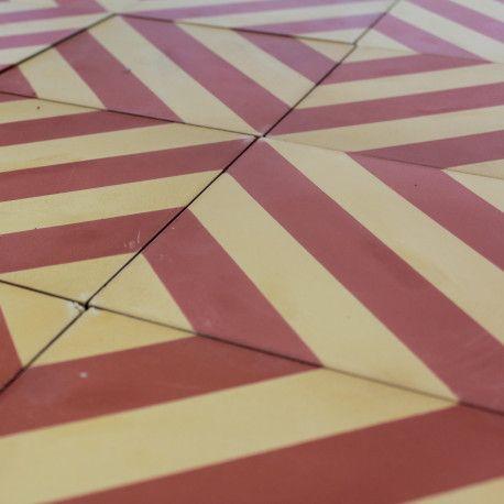 Carreau Ciment Motif Artisanal Fait Main Catalan Rouge Et Jaune Multicolore 20x20 Cm Carreaux Ciment Carreau De Ciment Ciment