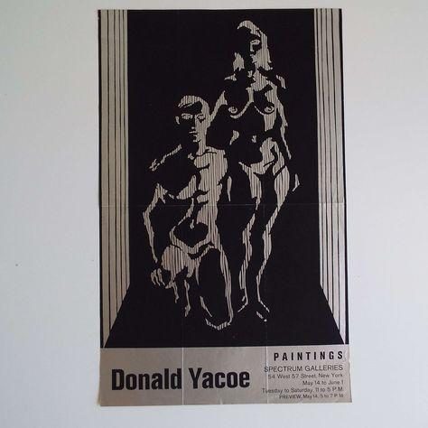 Vintage 1968 Donald Yacoe Exhibition Poster Spectrum Galleries | Etsy