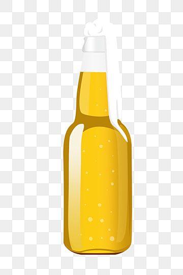 Yellow Beer Bottle Illustration Wine Bottle Beer Wine Png Transparent Clipart Image And Psd File For Free Download In 2020 Beer Bottle Bottle Beer Clipart