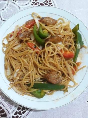 Resep Spaghetti Goreng Vegan Oleh Erwis Wei Wei Resep Resep Vegetarian Spageti Resep Makanan