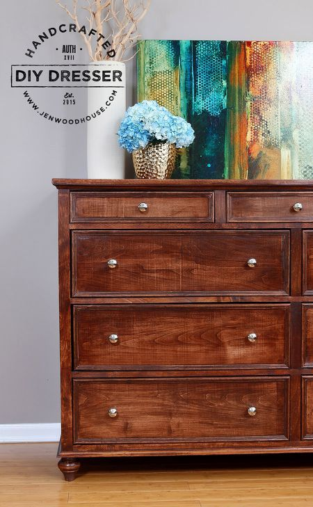 A Diy 11 Drawer Dresser Diy Dresser Diy Dresser Plans Woodworking Plans Diy