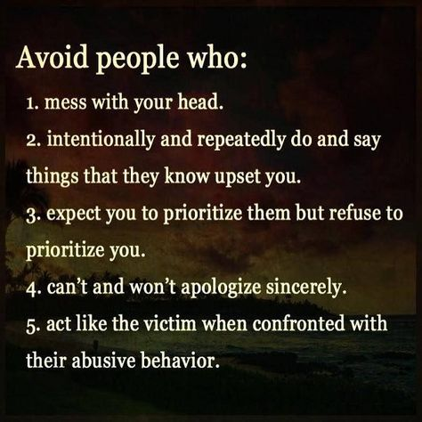 Avoid people who: #abuse #manipulate #control #toxicpeople