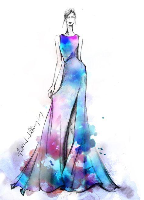 Fashion sketch illustration by designer Matthew Williamson #HarrodsInsideTheStudio with Matthew Williamson harrods.com
