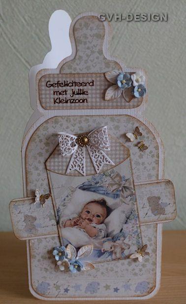 3D Easy Die Cut Card Toppers BABY 5 Designs Birth Cradle Pram Christening Type 1