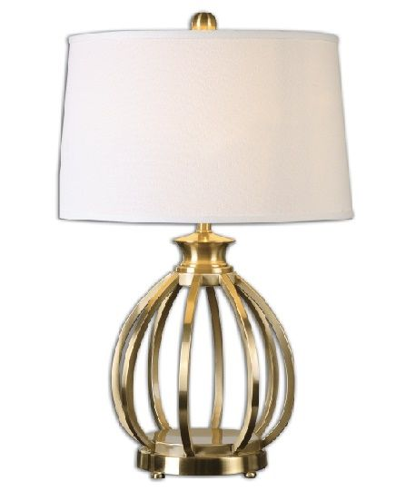 28 Gold And White Brushed Brass Curved Metal Orb Decorative Table Lamp Decorative Table Lamps Table Lamp Lamp