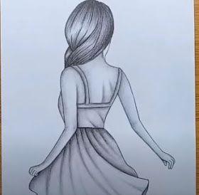 Kolay Karakalem Elbiseli Kiz Cizimi Karakalem Kiz Cizimleri Videosu Easy Pencil Drawings Cizim Cizim Fikirleri