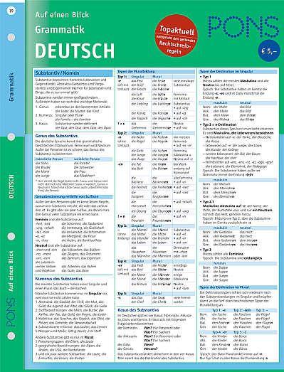 Pons Deutsch Grammatik Auf Einen Blick Bild 1 Mit Bildern