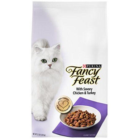 Purina Fancy Feast Gourmet Dry Cat Food With Savory Chicken Turkey Satisfy Your Cat S Cravings For Gourmet Meals Cat Food Reviews Cat Food Wellness Cat Food