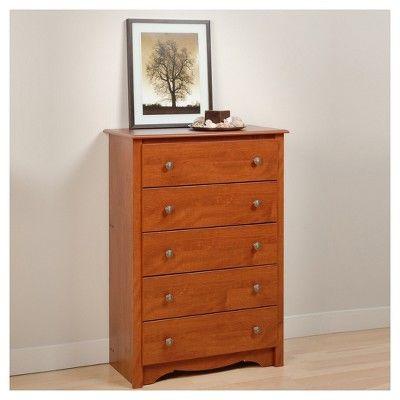 Monterey Vertical Dresser Cherry Prepac Chest Of Drawers 5