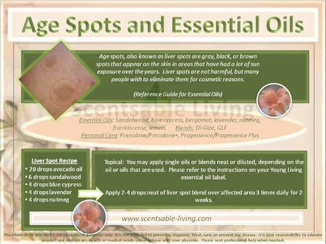 Remove Age Spots & Liver Spots with Young Living Essential Oils…