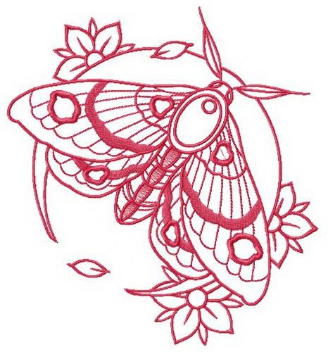 moth and flowers machine embroidery design. Pink moth and flowers machine embroidery design. , Pink moth and flowers machine embroidery design. Embroidery Transfers, Hand Embroidery Patterns, Vintage Embroidery, Machine Embroidery Designs, Crewel Embroidery, Embroidery Thread, Embroidery Jewelry, Flower Embroidery, Flash Art Tattoos