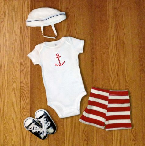 e0a841141ea8 Baby Boy Clothes Nautical Outfit Gift Idea - Anchor on Etsy