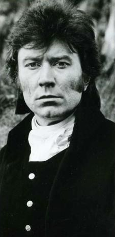 Robin Ellis as Ross Poldark of the 1970s BBC series, Poldark, which was based on the Poldark books by Winston Graham.