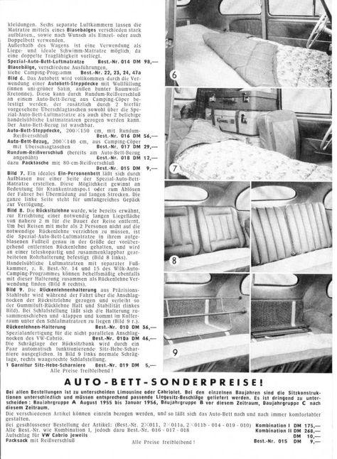 Bett Len wilk auto bett vw käfer cing 50er katalog eichwaelder