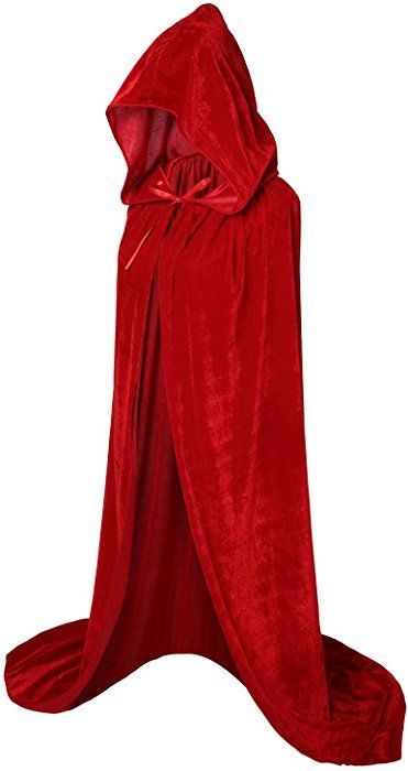 Hooded Cloak Long Velvet Cape for Christmas Halloween Cosplay Costumes 59inch