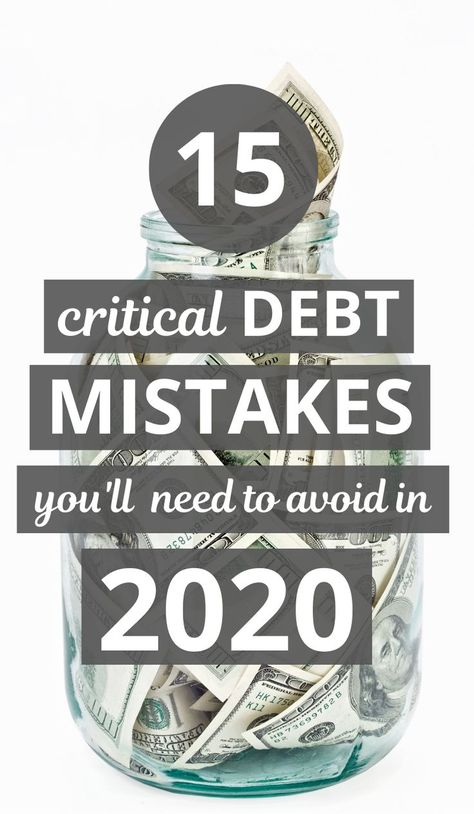16 Mistakes People Make While Paying off Debt