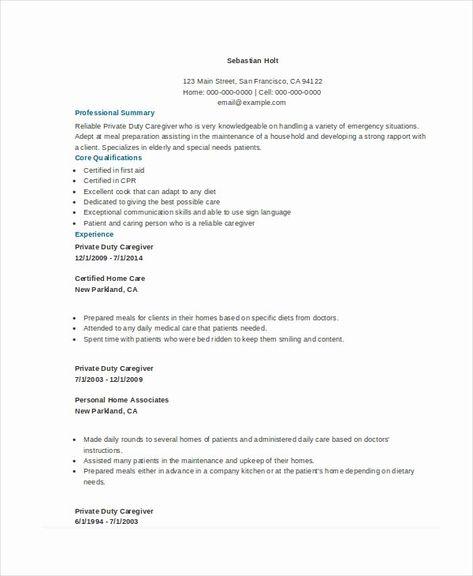 Caregiver Resume No Experience Printable Resume Template Resume Examples Resume No Experience Education Resume
