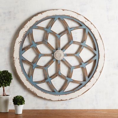 While We Love The Whitewashed Look Let S Take It A Step Beyond With A Beautiful Blue Wash Our Unique W Rustic Wall Decor Flower Wall Decor Outdoor Wall Decor