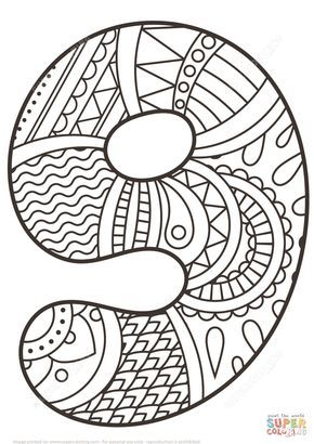Disegno Da Colorare Di Numero Zentangle 9 Categorie Numeri Zentangle Disegni Da Colorare Per Bambini E Sta Motivi Di Zentangle Disegni Da Colorare Zentangle