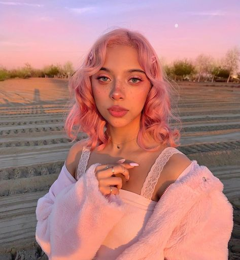 What did you have for dinner last night? can find Aesthetic photography and more on our website.What did you have for dinner last night? Curly Pink Hair, Long Pink Hair, Lilac Hair, Green Hair, Red Pink Hair, Girl With Pink Hair, Pink Hair Dye, White Hair, Pastell Pink Hair