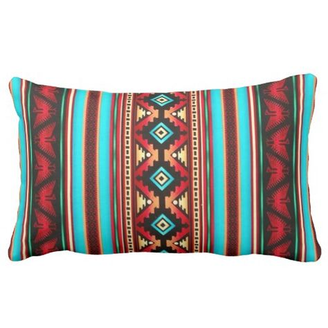 Southwest Leather and Print 301749 Throw Pillow