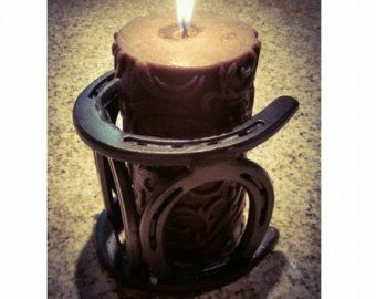 Horseshoe candle Holder by WombleShoes on Etsy