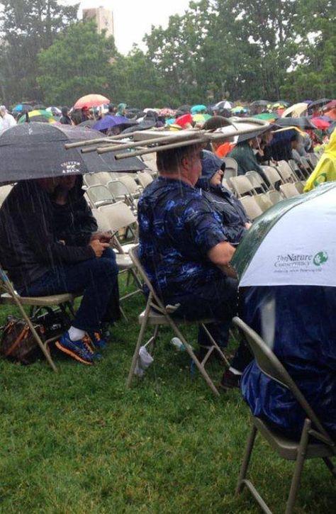 972676e9e9b Chair Hat In The Rain