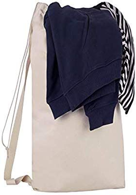 Amazon Com Bagzdepot Durable Canvas Laundry Bag With Shoulder