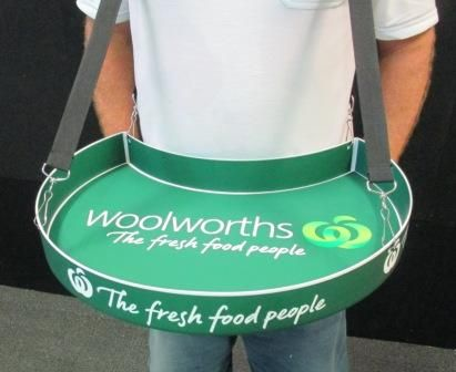 Woolworths Sampling Tray Ice Cream Logo Tray Organic Packaging