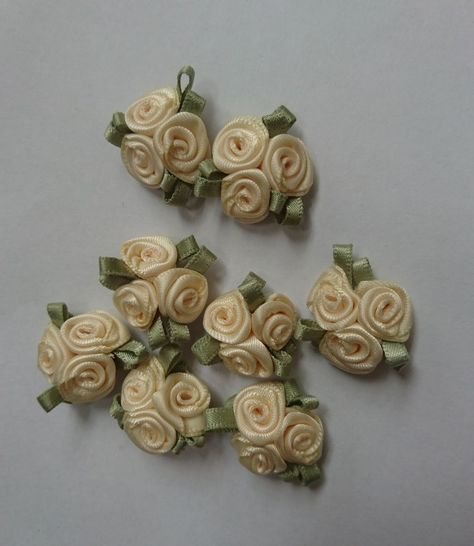 PASTEL MIX Rosebuds Roses Satin Flowers Wedding Card Rose buds 25 50  500