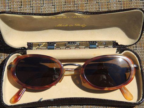 9cbacfad1b Giorgio Armani Unisex Tortoise Shell Sunglasses 672 1100 140 With Original  Case Lenses Marked GA
