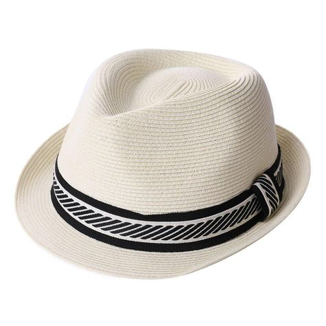 55d58a81cc4 Fedora Straw Fashion Sun Hat Packable Summer Panama Beach Hat Men Women 56- 61CM