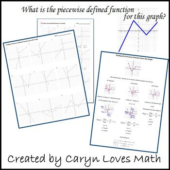 Finding The Equations For The Graph Of A Piecewise Defined