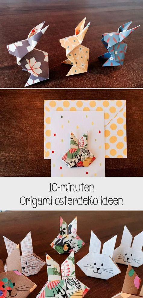 Photo of Ostern-Origami-Hase-Hasen-einfach-falten # Ostern basteln