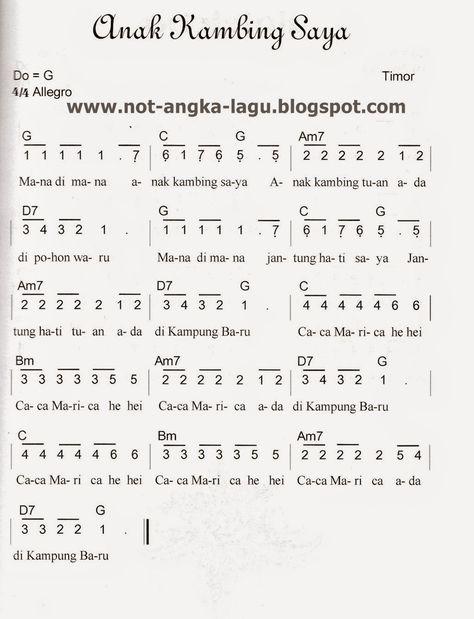 Chord Naik Delman : chord, delman, Sheet, Musik,, Lagu,, Pianika