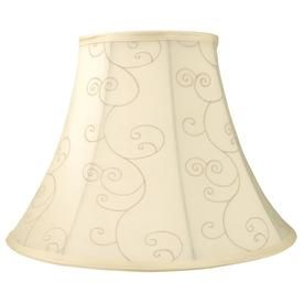 Allen Roth 12 5 In X 17 In Beige Fabric Bell Lamp Shade Psh0911