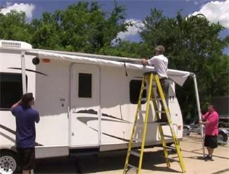 Replace Awning On Rv In 2020 Rv Awning Replacement Rv Awning Fabric Diy Awning