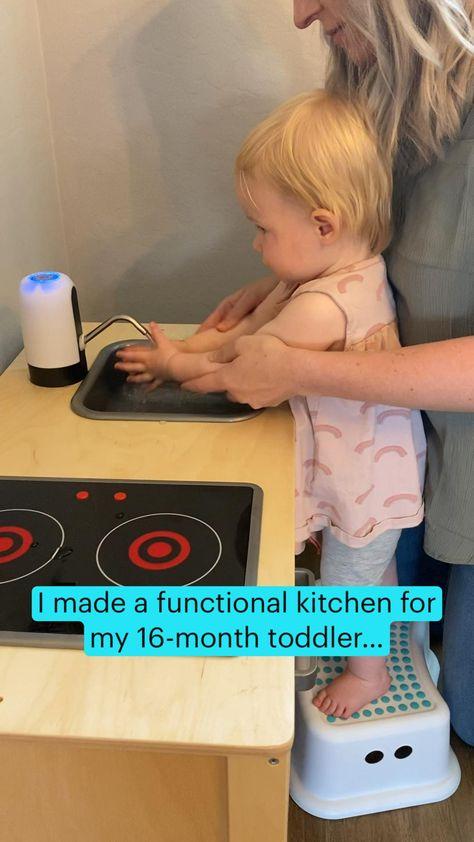 Functional Toddler Kitchen - Toddler Kitchen Play Area