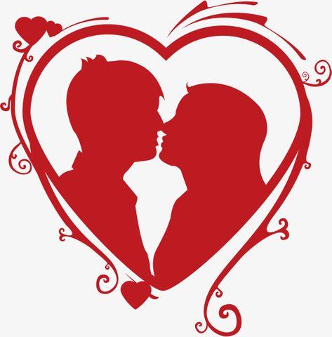 Gráfico de vetor,O Amor,Beijos,O casal,O primeiro Amor,O primeiro Amor,Gráfico,Vector,Vermelho,casal,Amor,beijos,O,primeiro