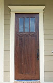 Exceptional Front Door Trim And Metal Bottom Strip. Next House Project.