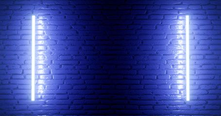 3d Rendering Brick Wall Illuminated By A Neon Blue Light Abstract Background Light Effect On The Protruding Surface Abstract Backgrounds Neon Neon Blue