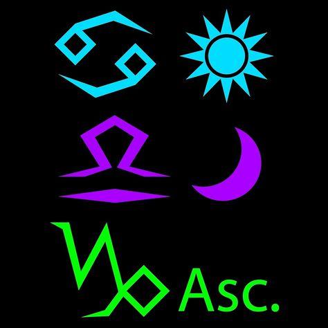 """Cancer Sun, Libra Moon, Capricorn Ascendant"" - #Cancer #Libra #Capricorn #CancerSun #LibraMoon #CapricornRising #CapricornAscendant #Sun #Moon #Rising #Ascendant #Astrology #Zodiac #ZodiacSigns #AstrologySigns #Crescent #CrescentMoon #Symbols #Glyphs #StarSigns"