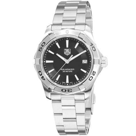 Tag Heuer Men's 'Aquaracer' Stainless Steel Watch, Black Size: One Size Fits All