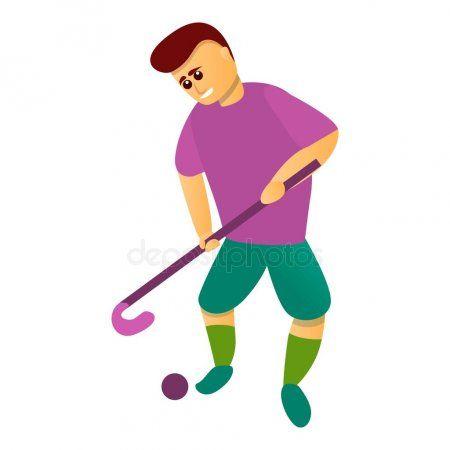 Start Match Field Hockey Icon Cartoon Style Stock Vector Affiliate Field Hockey Start Match Ad Cartoon Styles Field Hockey Icon