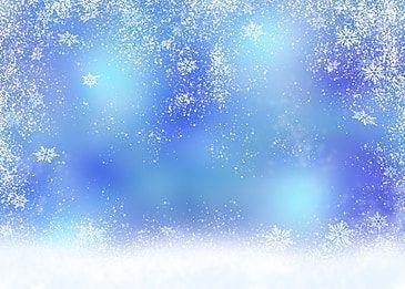 جميل الشتاء ندفة الثلج خلفية خلفية زرقاء Blue Background Images Snowflake Background Blue Christmas Background